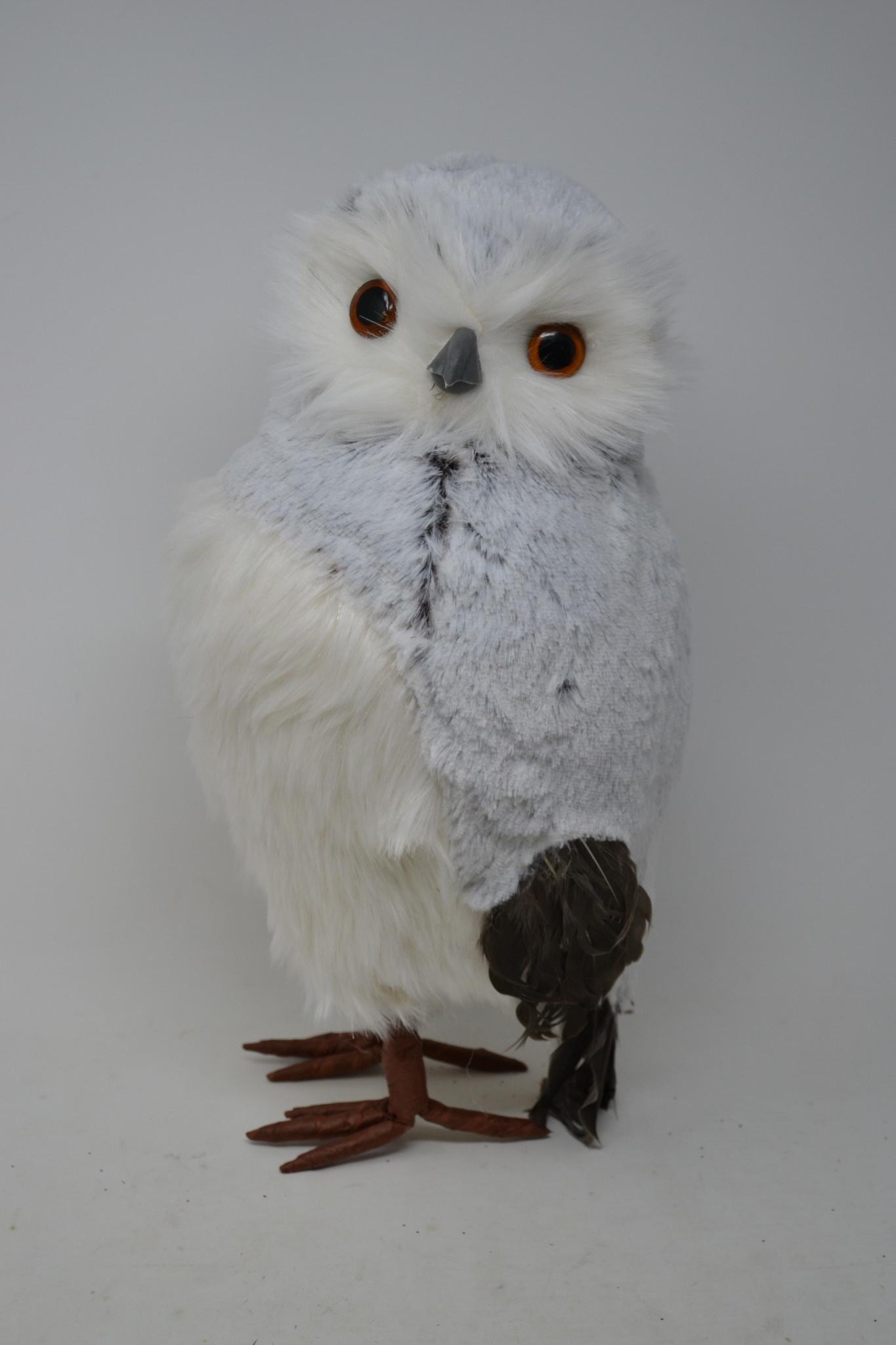 Standing Snow Owl