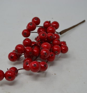 "2"" Red Mini Crabapple Pick"