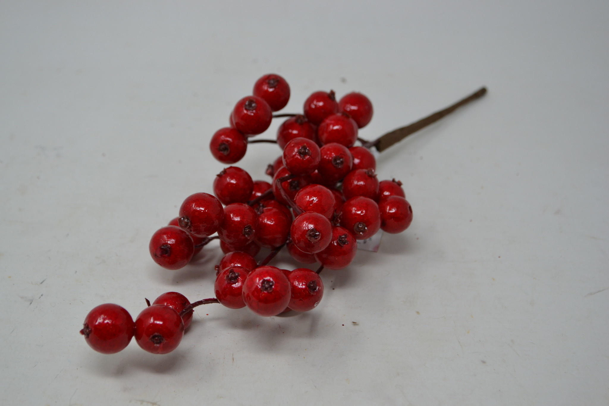 "12"" Red Mini Crabapple Pick"