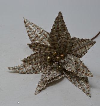 """24"""" Tweed Poinsettia Stem"""