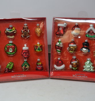 12 Piece Petite Treasures Ornament Set (2 Styles)