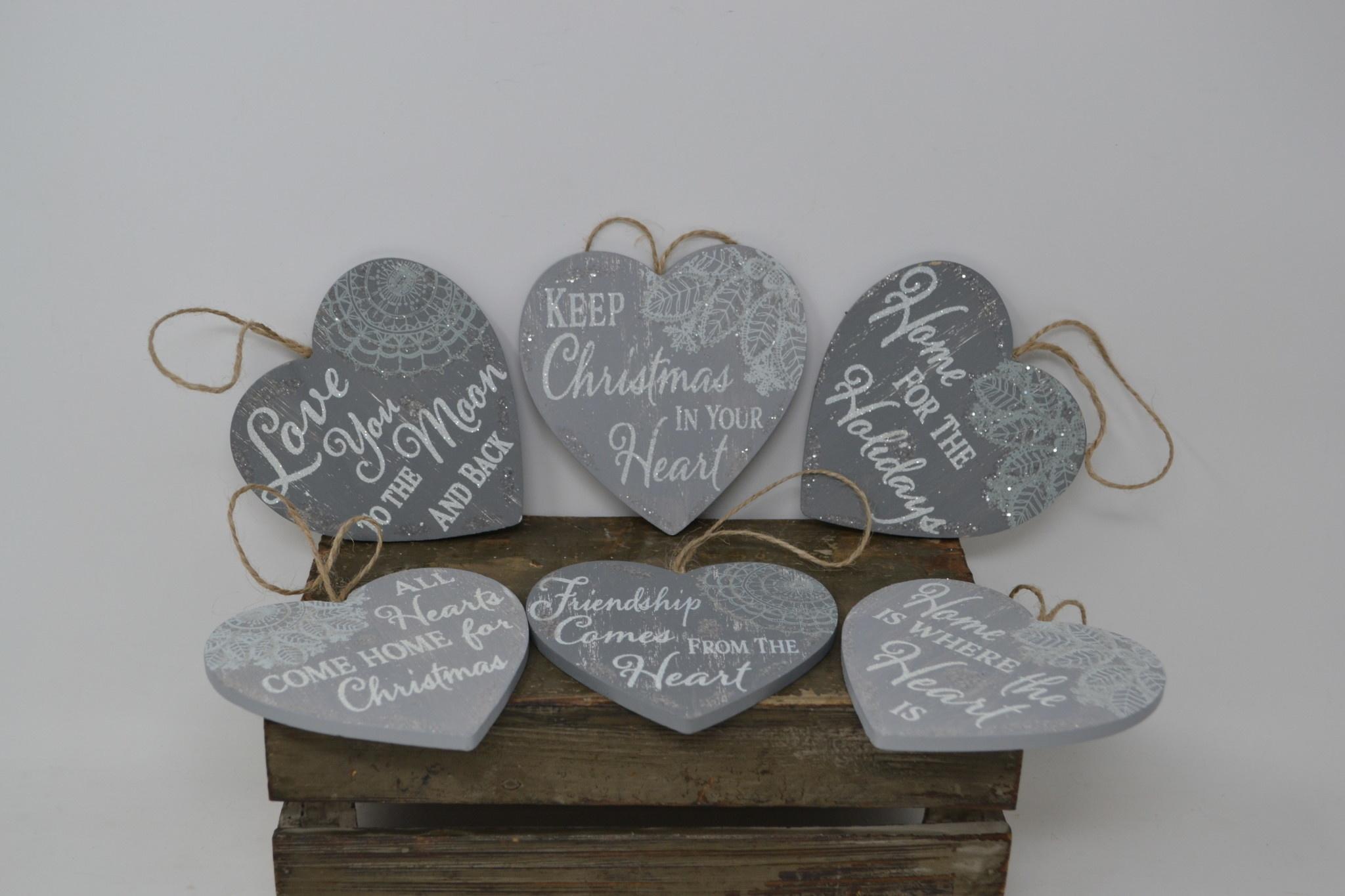 Sentimental Gray Heart Ornament (6 Styles)