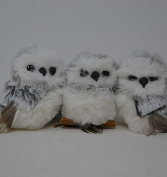 Mini Snow Owl Ornament (3 Styles)