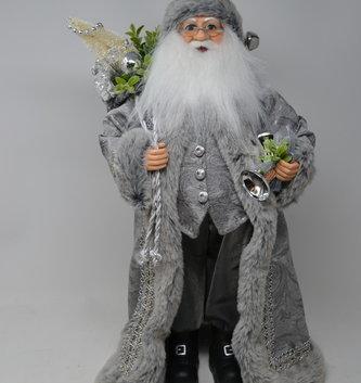 """18"""" Silver and Gray Santa"""