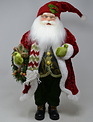 "18"" Red and Green Holiday Santa"