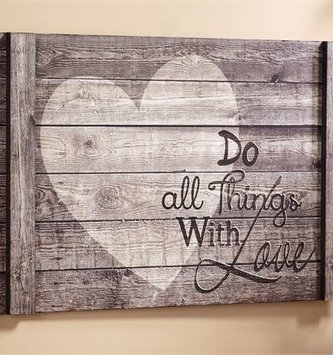 Do All Things With Love Gray Sign