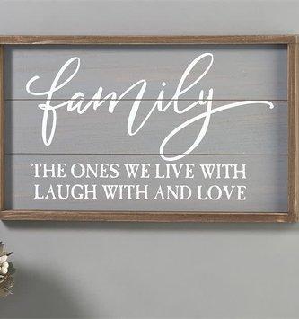 Gray Frame Family Sign