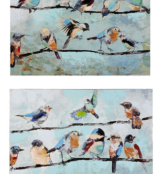 Birds on Line Canvas Print (2 Styles)