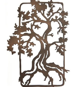 Brown Iron Tree Wall Decor