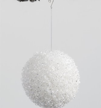 Large Snowball Orb Ornament