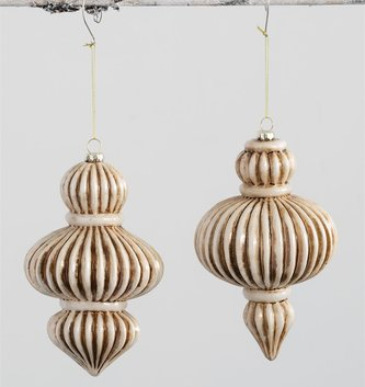 Large Finial Ribbed Ornament (2 Styles)