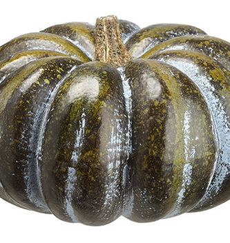 "12"" Dark Green Wide Pumpkin"