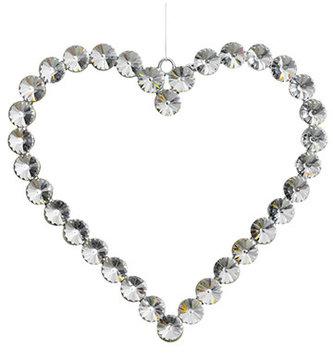 Large Rhinestone Heart Ornament