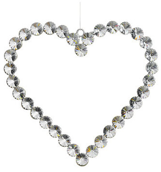 Large Rhinestone Heart Ornament