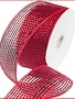 "Red Foil Mesh Ribbon 4""x25 Yds"