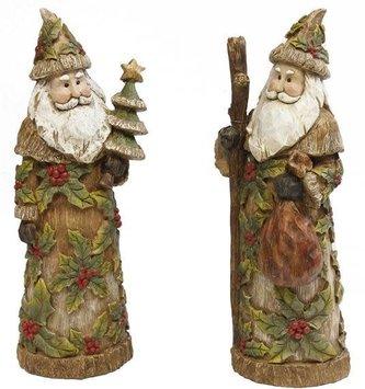 """13"""" Woodland Holly Santa (2 Styles)"""