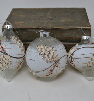 Jeweled Winter Pinecone Ornament (3 Styles)