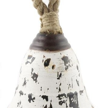 Cream Distressed Metal Bell (2 Sizes)