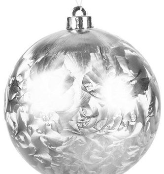 "8"" Round Silver Frost Ornament"