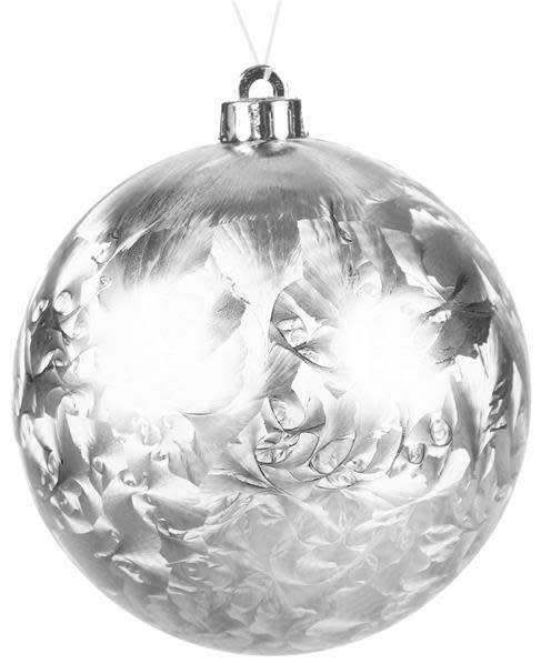 """8"""" Round Silver Frost Ornament"""