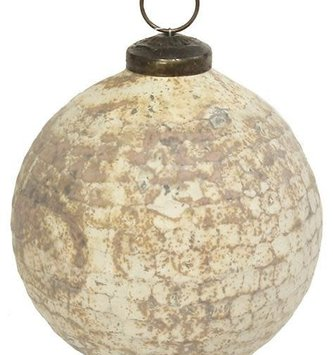 Vintage Hammered Ball Ornament