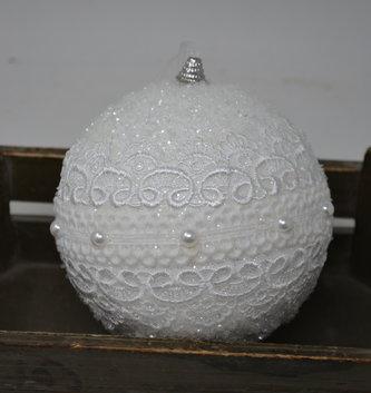 Winter Lace Ball Ornament