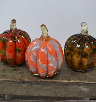 Small Speckled Glass Pumpkin (3 Styles)