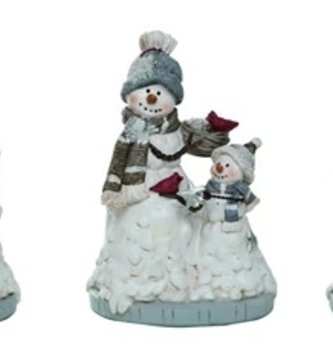 Small Snowman Family on Base (3 Styles)