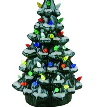 Ceramic Light-Up Traditional Tree