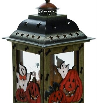 Wooden Decorative Halloween Lantern
