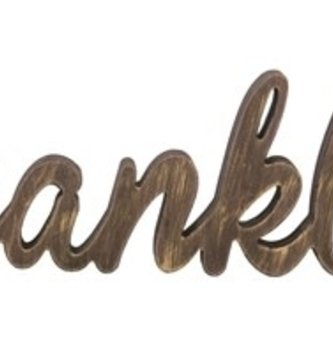 Brown Thankful Standing Word Sign