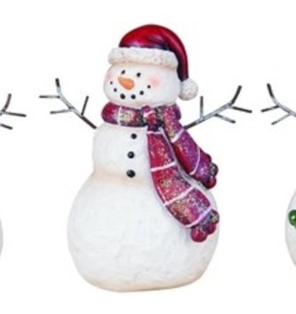 Shimmer Scarf Snowman (3 Styles)