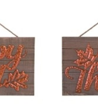 Copper Rustic Wooden Sign (2 Styles)