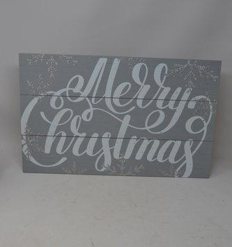 Gray Snowflake Sign