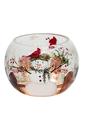 Light Up Crackle Snowman Vase