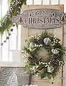 Whitewashed Galvanized Merry Christmas Sign