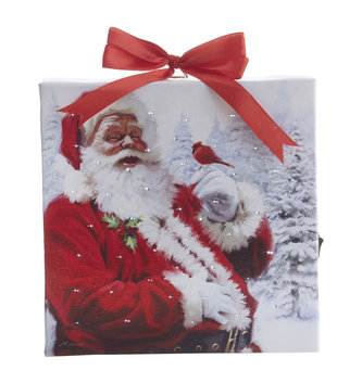 Square LED Tabletop Santa Canvas
