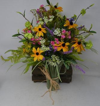 Custom Mountain Sunrise Grass Vase