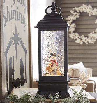 LED Frosty & Friends Snow Globe Lantern
