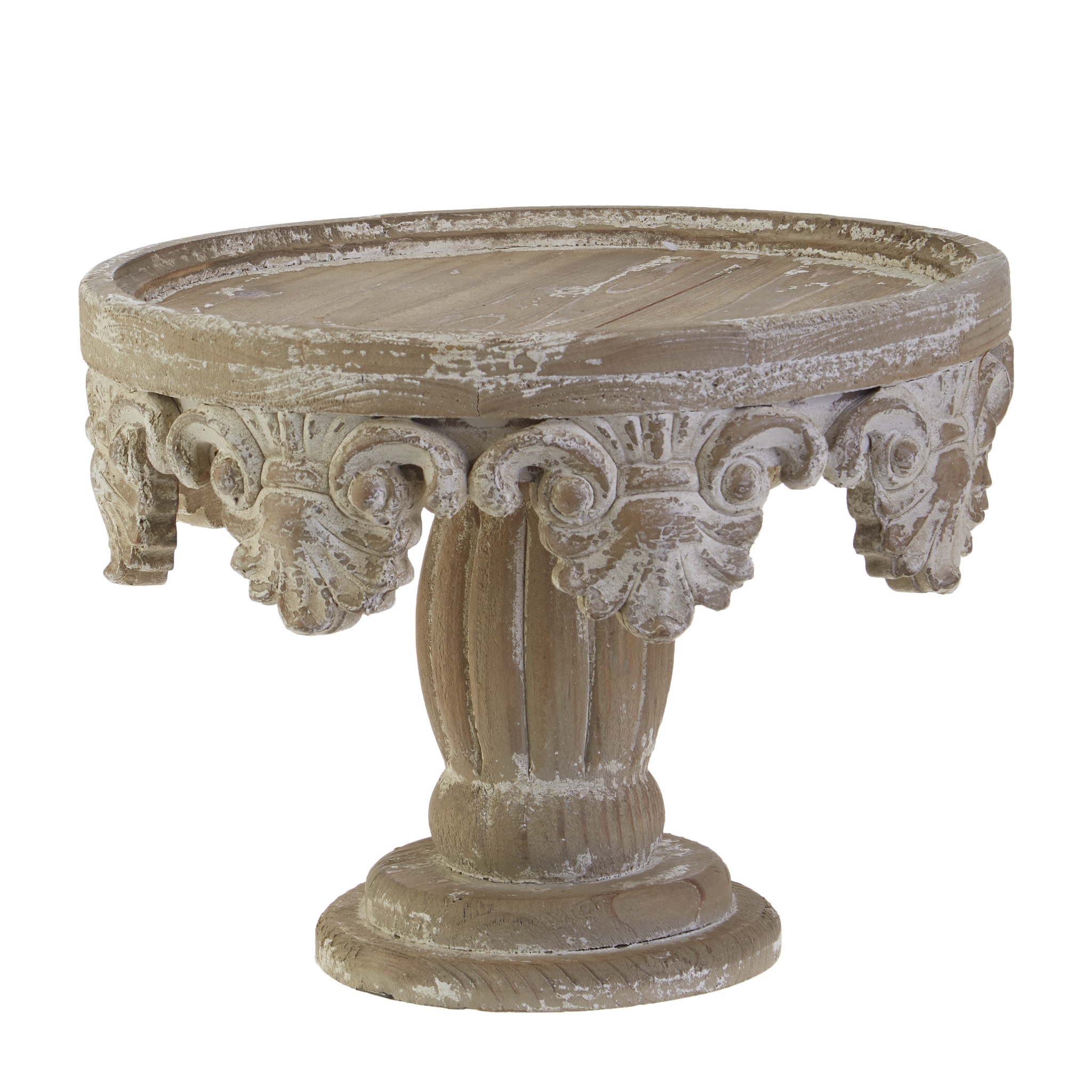 Distressed Wooden Pedestal Distressed Home Decor