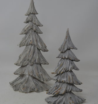 Set of 2 Gray Weathered Trees