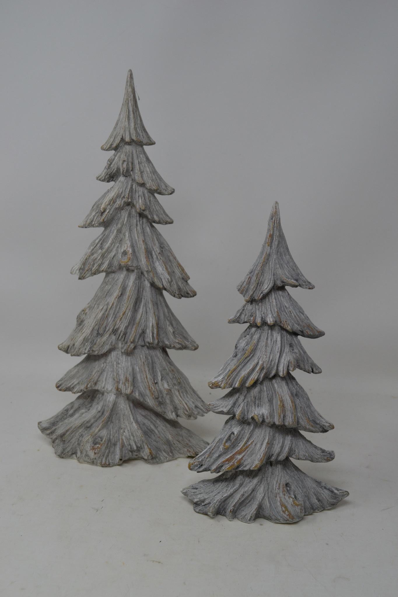 2 Christmas Tree.Set Of 2 Gray Weathered Trees Rustic Christmas Decor