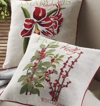 Botanical Embroidered Pillow (2 Styles)