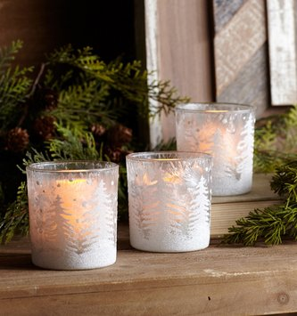 Winter Forest Votive Holder