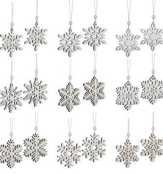Set of 18 Shimmer Snowflake Ornaments
