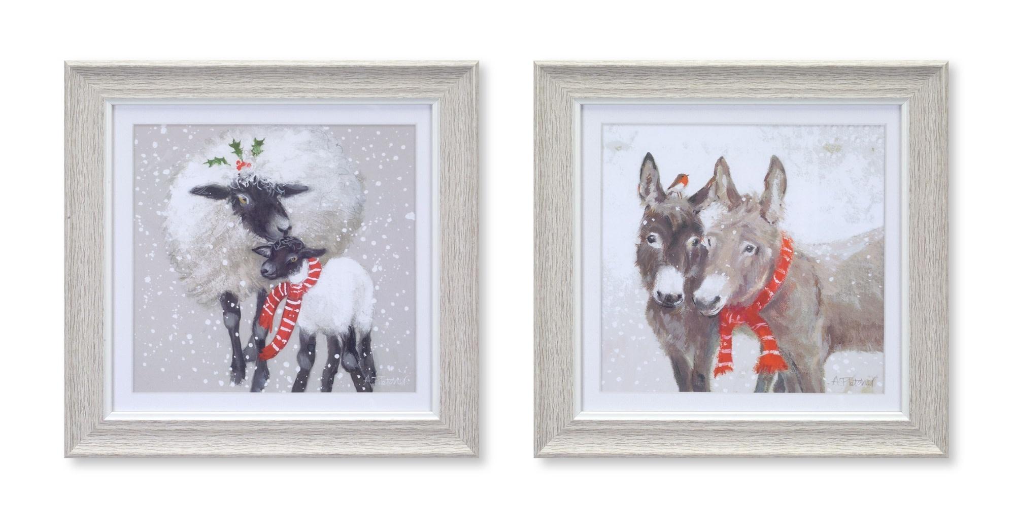 """10"""" Square Framed Winter Print"""