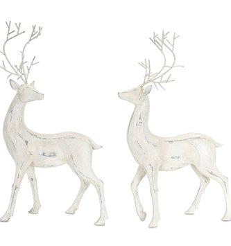 Set of 2 Large Gray Deer