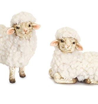 Set of 2 Mini Fluffy Sheep