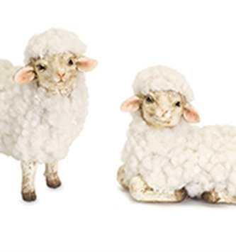 Set of 2 Mini Fluffy Sheep