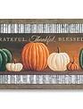 Grateful Thankful Blessed Framed Pumpkin Plaque